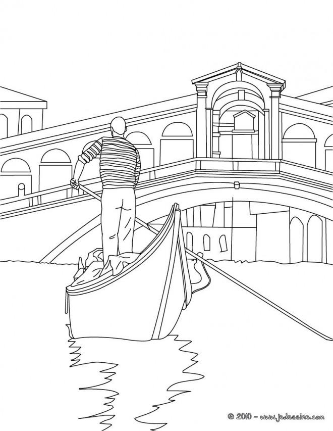 Coloriage et dessins gratuits Italie Venise stylisé à imprimer