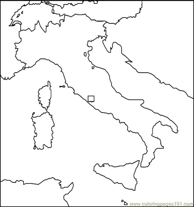 Coloriage et dessins gratuits La Carte de L'Italie en Europe à imprimer