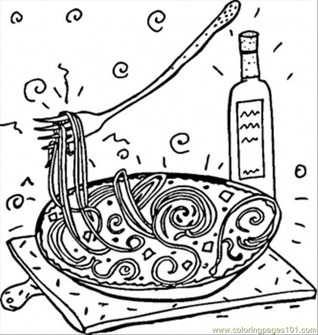 Coloriage et dessins gratuits La Cuisine italienne à imprimer