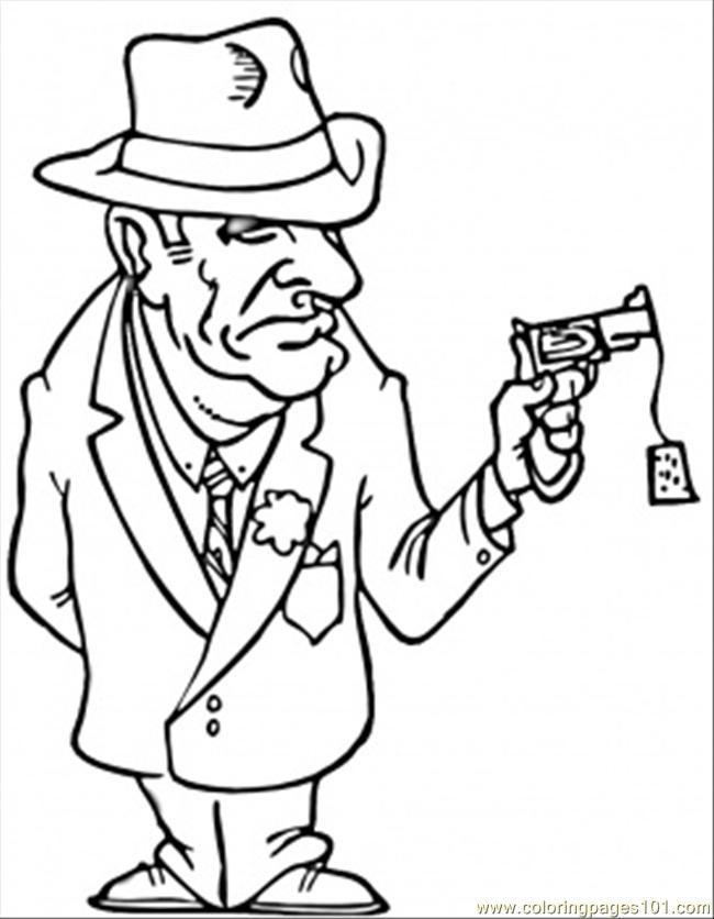Coloriage et dessins gratuits la Mafia italienne à imprimer