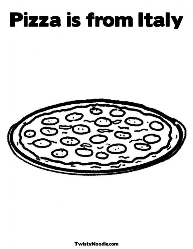 Coloriage et dessins gratuits La Pizza est italienne à imprimer
