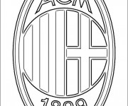 Coloriage Le A.C milan de Calcio