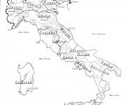Coloriage Les Frontières de L'Italie