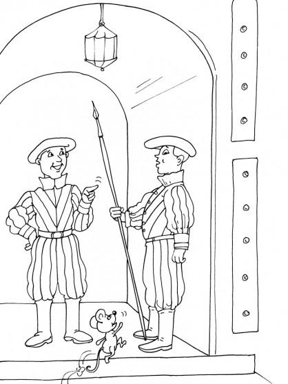 Coloriage et dessins gratuits Les Gardes de Vatican à imprimer