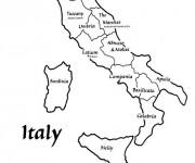 Coloriage Les Villes en Italie