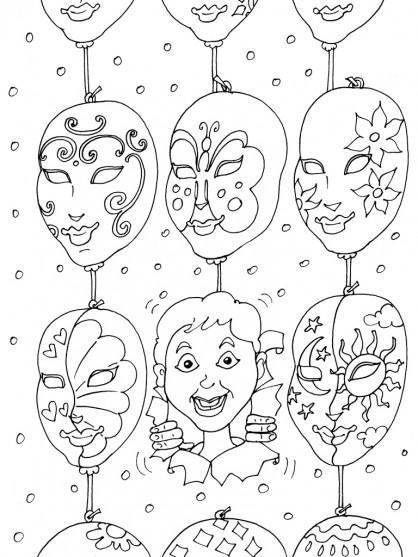 Coloriage et dessins gratuits Masques Italiens à imprimer