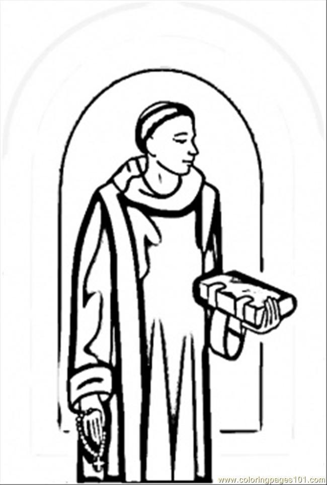 Coloriage et dessins gratuits Saintes italiennes à imprimer
