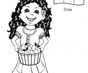 Coloriage et dessins gratuit Sophia Femme Italienne à imprimer