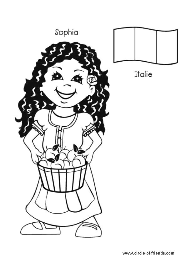 Coloriage et dessins gratuits Sophia Femme Italienne à imprimer