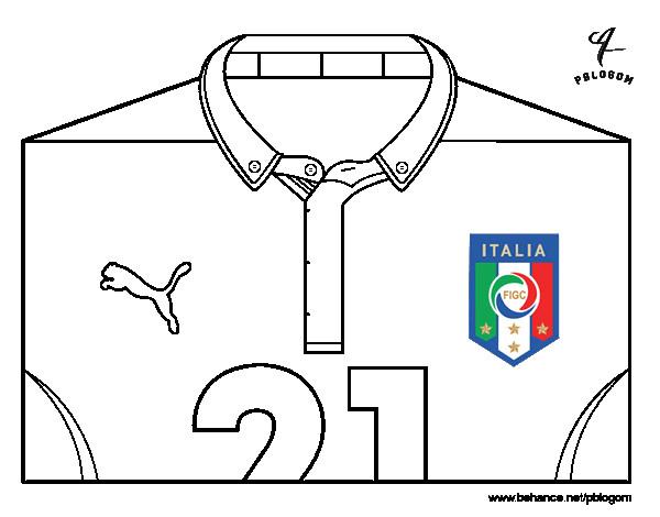 Coloriage et dessins gratuits T-shirt italie à imprimer
