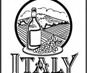 Coloriage Vin en Italie