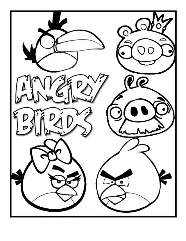 Coloriage et dessins gratuits Angry Birds Jeux pour enfant à imprimer