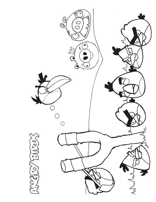 Coloriage et dessins gratuits Angry Birds jeux vidéo à imprimer