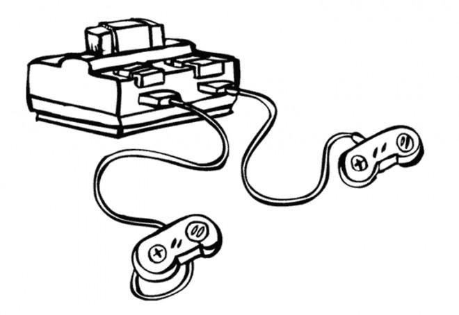 Coloriage console jeux vid o dessin gratuit imprimer - Jeux gratuit de dessin ...