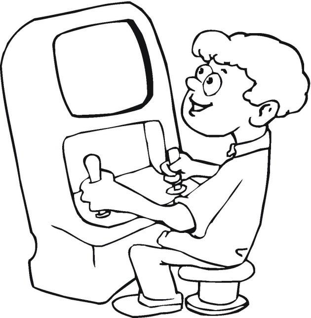 Coloriage Jeux Video Coloriage Kid Paddle Joue Au Jeu Vido