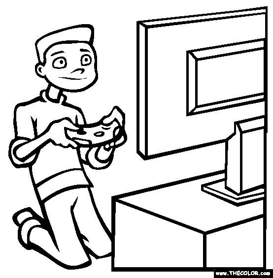 Coloriage Jeux Video A Colorier Dessin Gratuit A Imprimer