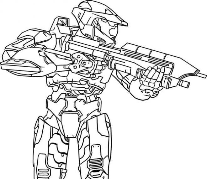 Coloriage jeux vidéo Action dessin gratuit à imprimer