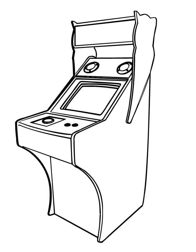 Coloriage et dessins gratuits jeux vidéo anciens à imprimer