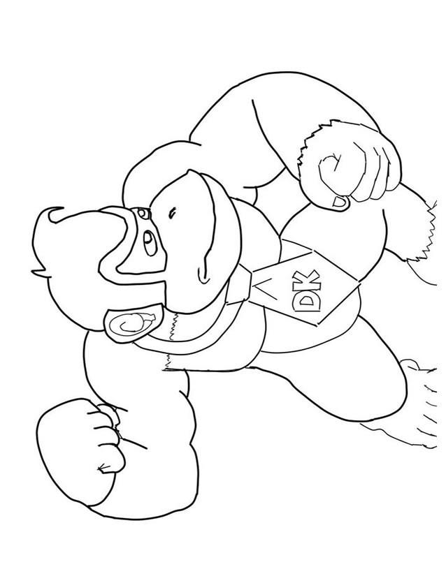Coloriage et dessins gratuits jeux vidéo Donkey Kong couleur à imprimer