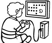 Coloriage et dessins gratuit Jeux Vidéo facile à imprimer