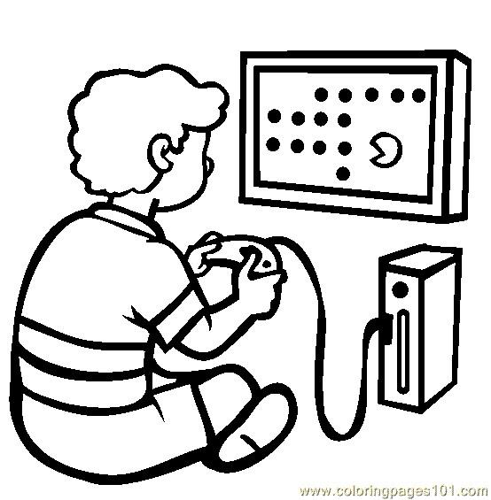 Coloriage et dessins gratuits Jeux Vidéo facile à imprimer