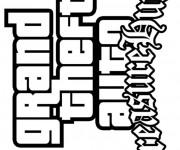 Coloriage et dessins gratuit Jeux Vidéo Grand Theft Auto à imprimer