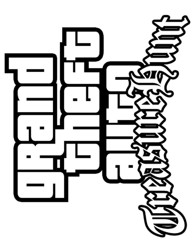 Coloriage et dessins gratuits Jeux Vidéo Grand Theft Auto à imprimer