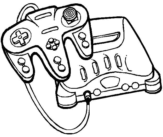 Coloriage et dessins gratuits Jeux Vidéo Play Station à imprimer