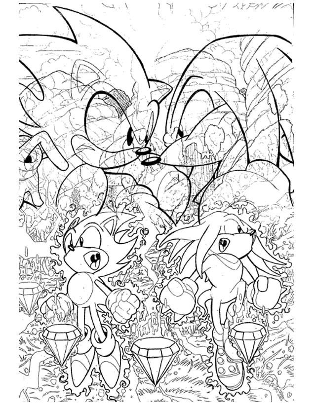 Coloriage et dessins gratuits jeux vidéo Sonic Boom à imprimer