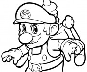 Coloriage et dessins gratuit Jeux Vidéo Super Mario à imprimer