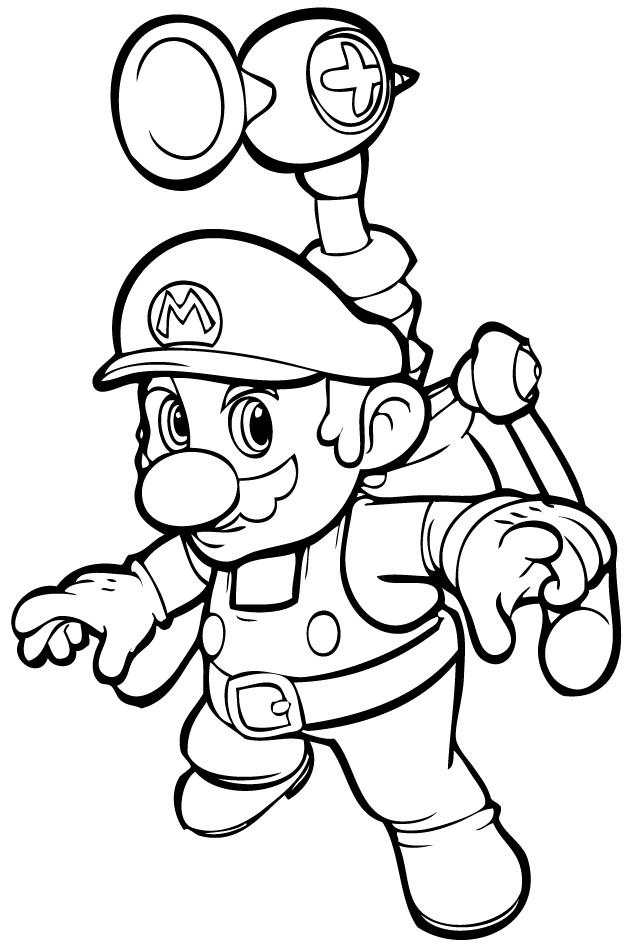 Coloriage et dessins gratuits Jeux Vidéo Super Mario à imprimer