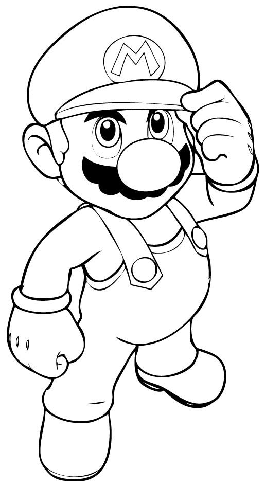 Coloriage et dessins gratuits Jeux Video Super Mario à imprimer