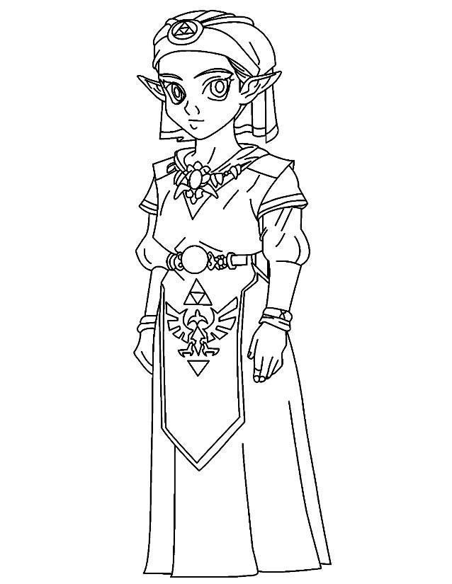 Coloriage Jeux Video Zelda Pour Fille Dessin Gratuit A Imprimer