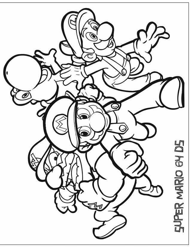 Coloriage et dessins gratuits Mario jeux vidéo vecteur à imprimer