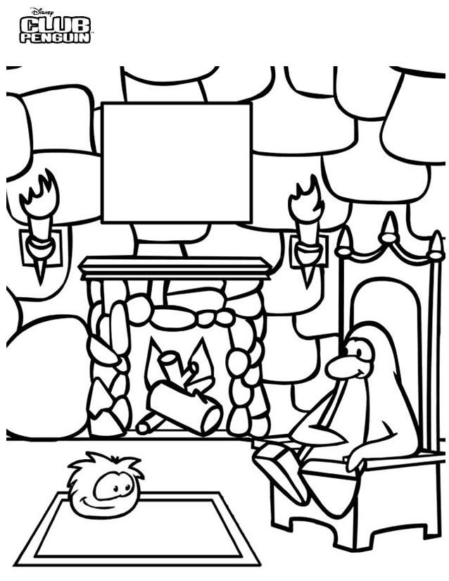 Coloriage et dessins gratuits Paysage Club Penguin à imprimer