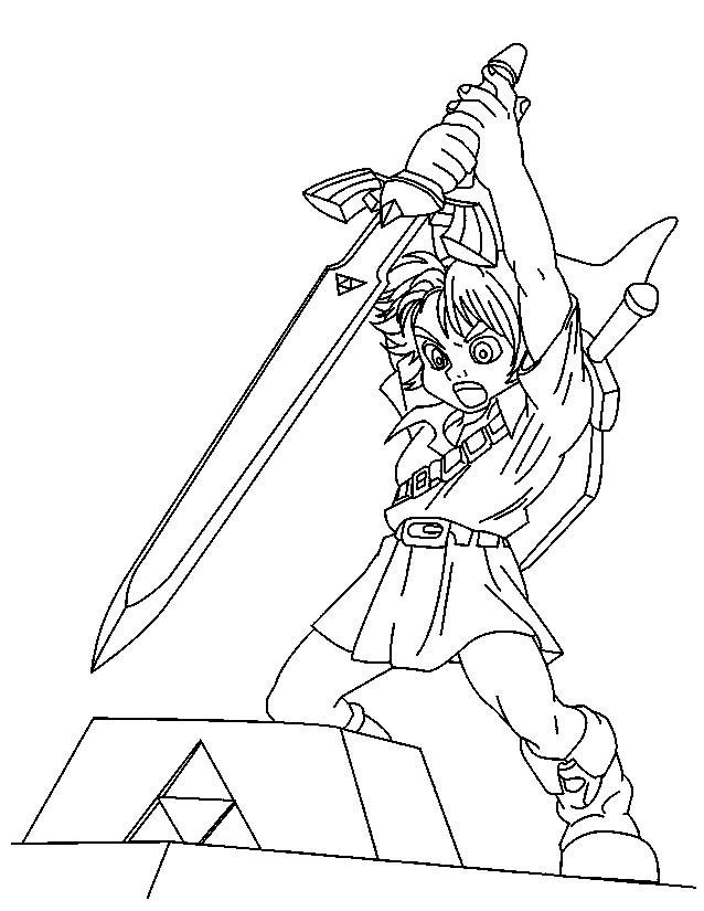 Coloriage et dessins gratuits Personnage Zelda Jeux à imprimer