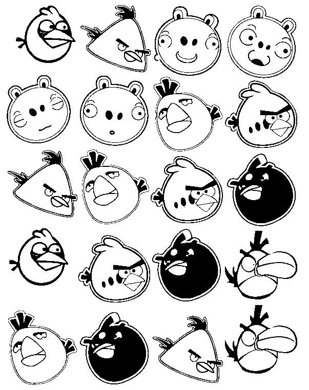 Coloriage et dessins gratuits Personnages Jeux Vidéo Angry Birds à imprimer