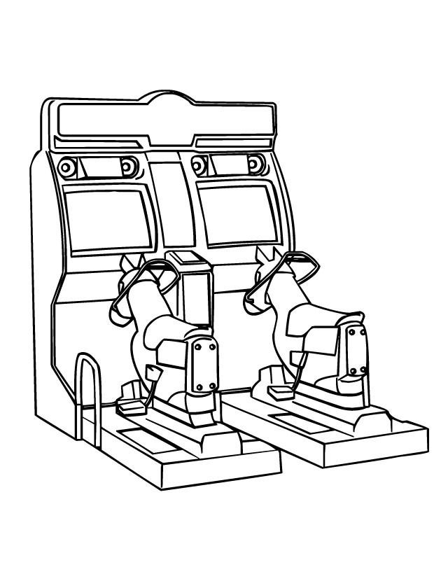Coloriage et dessins gratuits Salle de Jeux maternelle à imprimer