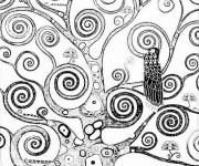 Coloriage Arbre de Klimt à colorier