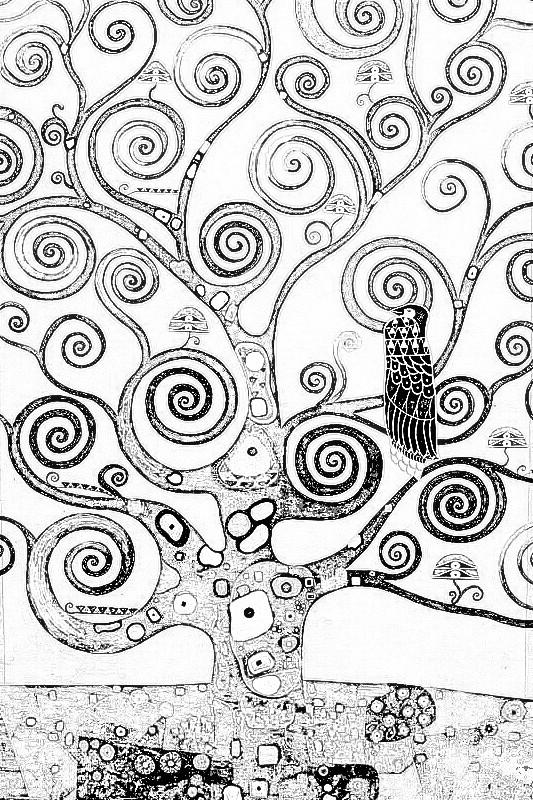 coloriage arbre de klimt colorier dessin gratuit imprimer. Black Bedroom Furniture Sets. Home Design Ideas