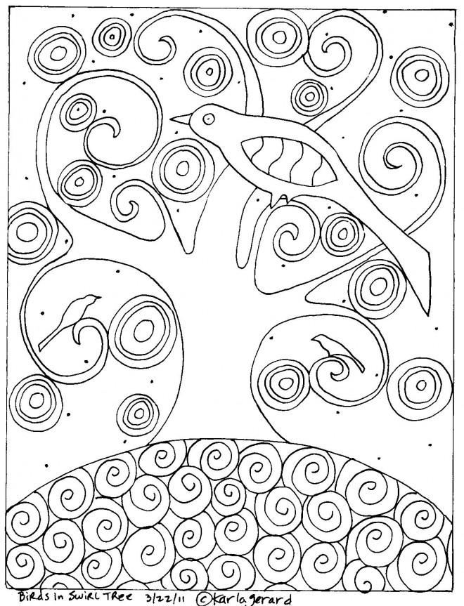 Coloriage et dessins gratuits Arbre de vie de Gustav Klimt à imprimer