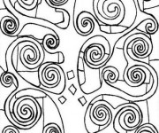 Coloriage et dessins gratuit Arbre Peintre Klimt à imprimer