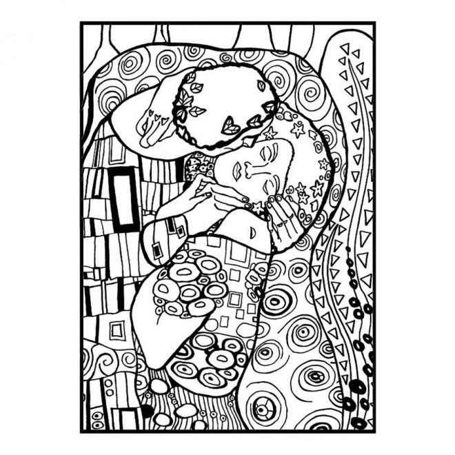 Coloriage et dessins gratuits Klimt à décorer à imprimer