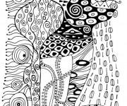 Coloriage Klimt à télécharger