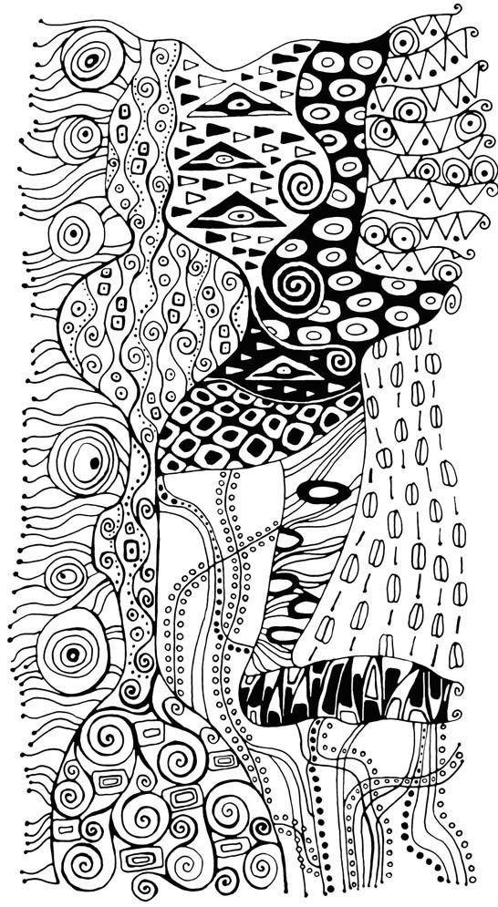 Coloriage et dessins gratuits Klimt à télécharger à imprimer