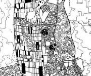 Coloriage et dessins gratuit Klimt Amour à imprimer