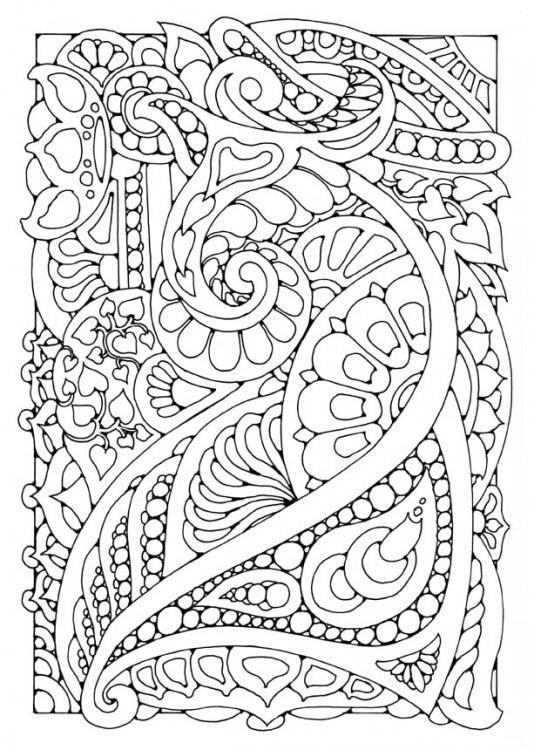 Coloriage et dessins gratuits Klimt Anti-Stress à imprimer