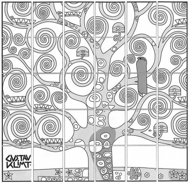 coloriage klimt arbre dessin gratuit imprimer. Black Bedroom Furniture Sets. Home Design Ideas