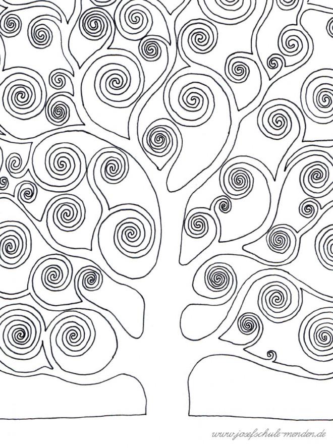 Coloriage et dessins gratuits Klimt Arbre Peinture à imprimer