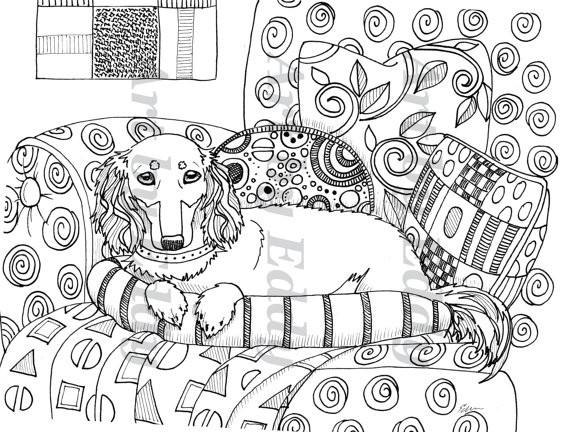 Coloriage et dessins gratuits Klimt Art Symbolisme à imprimer